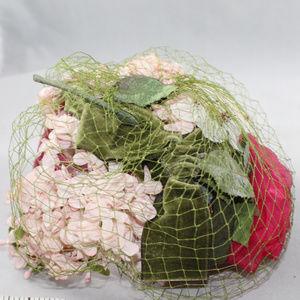 Don Anderson Vintage Floral Pink Green Ladies Hat